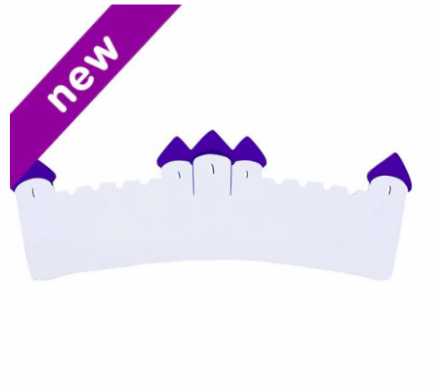 Lanka Kade Wooden Name Plaque - White & purple castle